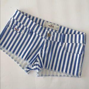 Hollister Striped Blue White shorts Size 1